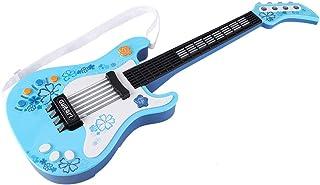 ROSEBEAR Jouet de Guitare Basse pour Enfants Guitare Multifonctionnelle pour Instrument de Musique pour Enfants (Bleu)