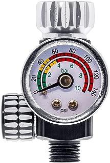 Master Pro High Flow Spray Gun Air Pressure Regulator with Gauge, 0 to 140 PSI - Air Flow Control Adjusting Valve for Air Tools