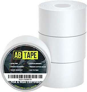 Premium Athletic Sports Tape Easy Tear Very Strong Best Cotton Medical Tape No Sticky Residue 3 Rolls in Set 45 Feet Each White