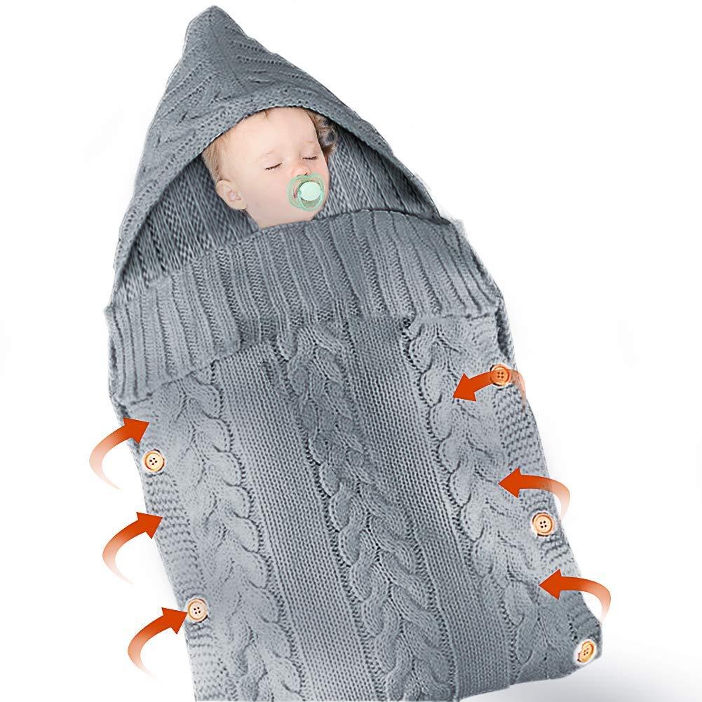 2er Pack Verstellbare Baby Schlafsack Neugeborene Swaddle Decke 100/% Bio-Baumwolle Mit Klettverschluss Unisex A Pucksack Baby 0-3 Monate Baby Decke Decke Puckt/ücher f/ür Babys