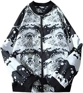 Beautyfine Autumn Winter Men's Fashion Casual Print Baseball Uniform Jacket
