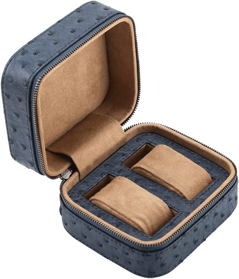 SHEDE 2 Slots Leather Watch Boxes New with Mec Outlet sale feature Brown Zipper online shop Case
