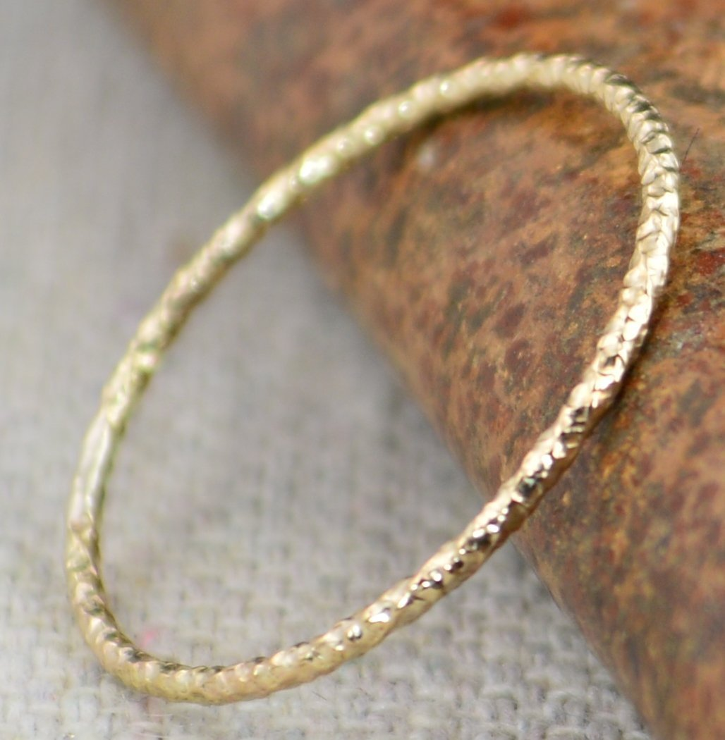 Thin Round Faceted 14k Gold individually Rings sold Mail order Nippon regular agency Fill