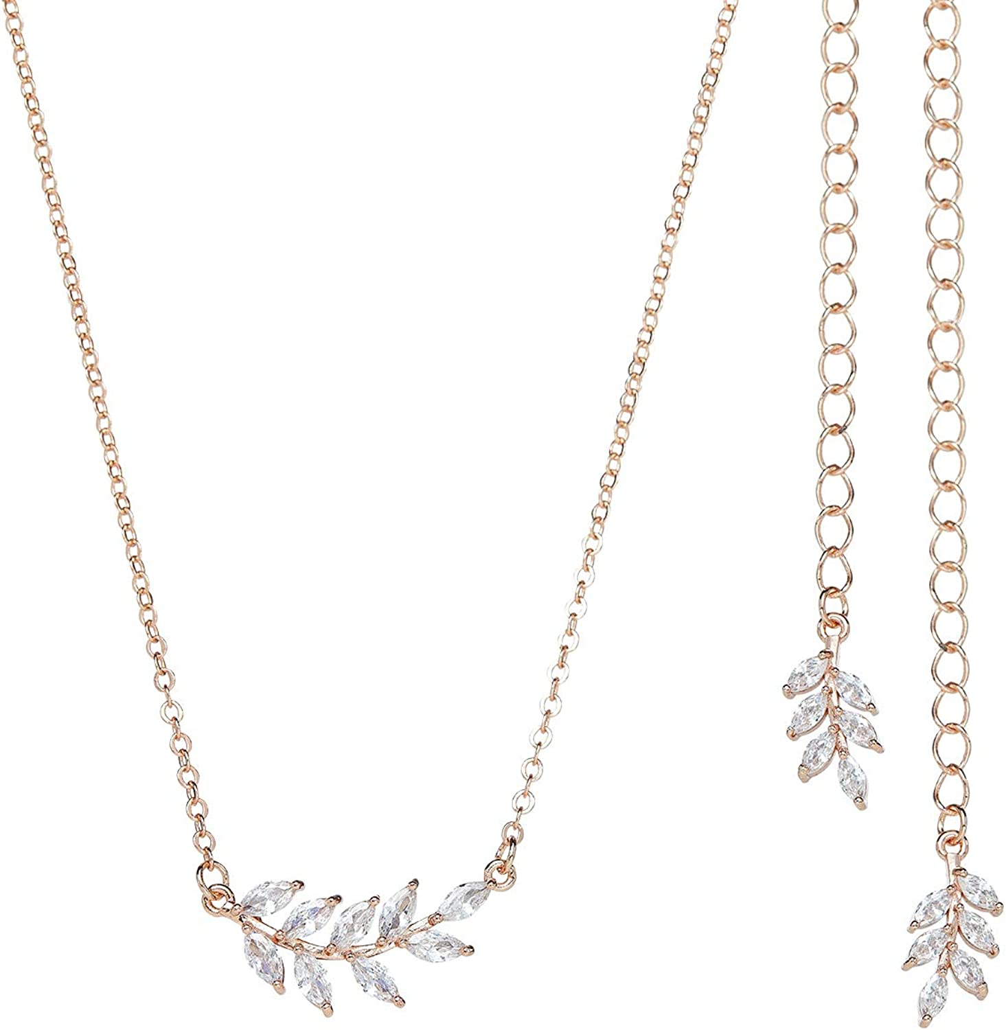 SWEETV Simple Wedding Back Necklace Brides for Brida Bridesmaid Lowest Limited time for free shipping price challenge