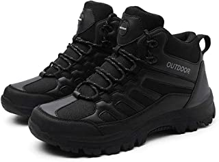 Hiking Shoes,Mens Hiking Shoes Breathable Non-Slip Sneakers Leather Low Cut Boots for Outdoor Trailing Trekking Walking,B,49