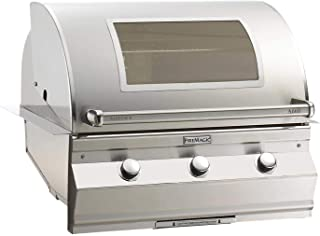 Fire Magic Aurora A660i Built-In Gas Grill with Analog Thermometer and Magic View Window (without Rotisserie Backburner) - Propane