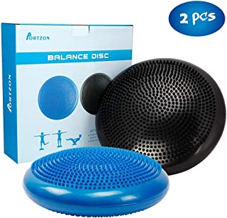 Portzon Wobble Cushion for Exercise Balance Stability Disc with Hand Pump