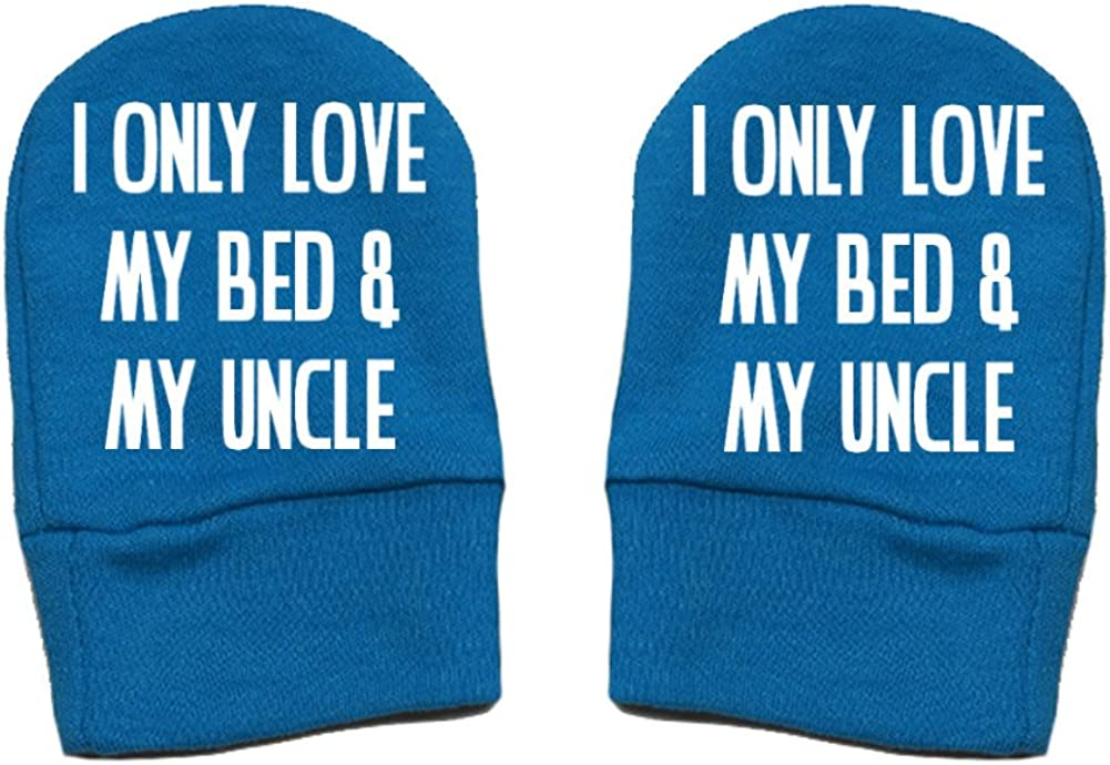 Thick /& Soft Baby Mittens Thick Premium Mashed Clothing Unisex-Baby Fun /& Trendy I Only Love My Bed And My Uncle