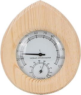 Thermomètre extérieur intérieur 2 en 1, thermo-hygromètre mural en forme de goutte pour sauna à vapeur