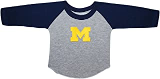 University of Michigan Wolverines Baby and Toddler 2-Tone Raglan Baseball Shirt