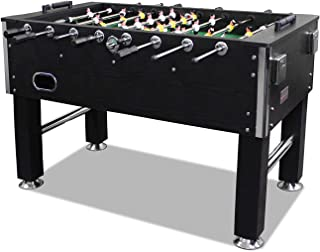 60 Inch Heavy Duty Soccer Foosball Table,2 Cup Holders for Home/Game Room, Black