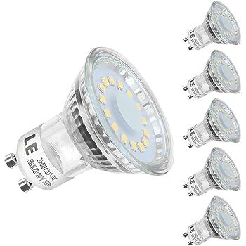 LE Bombillas LED GU10 4W, 50W Halógena, Blanco Luz de Día, Pack de 5: Amazon.es: Iluminación