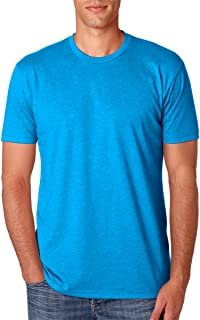 Next Level Men's Baby Rib Collar Premium CVC T-Shirt, Turquoise, XL (Pack of 5)