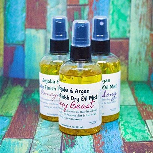 Satin Finish Jojoba and Argan Dry Oil Hair and Body Spray Sprtiz LEMONGRASS FRAGRANCE