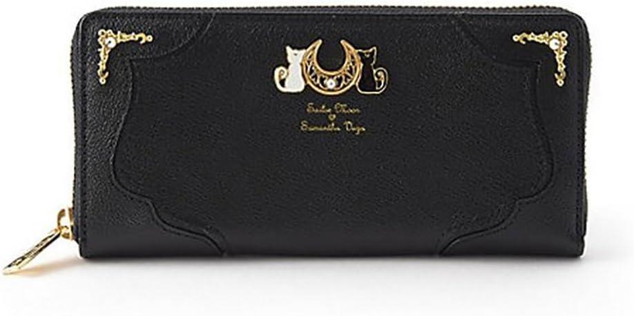 Sailor Moon 20th Anniversary Luna Bag Purse Wallet, Black, One Size