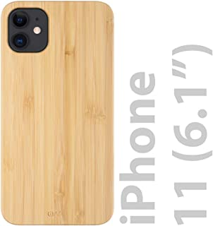 iATO iPhone 11 Wood Case. Real Bamboo Wood iPhone 11 Case Wood. Minimalistic Classic Wood Case for iPhone 11 6.1