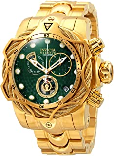 Invicta Reserve Green Dial Men's Gold-Tone Chronograph Watch 27700