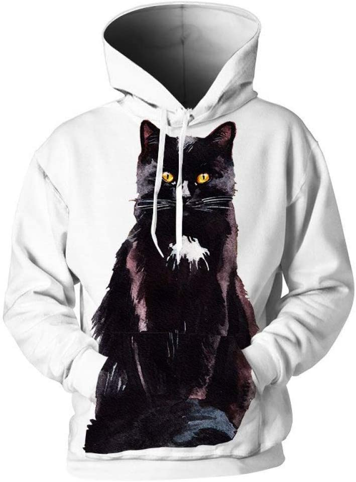 PU Printemps et automne sweatshirts pour femmes hommes Sweats à capuche peindre imprimer Sweats Streetwear 3D Pull,M M