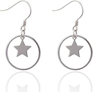 Gnzoe Jewelry Sterling Silver .925 Bow Inlaid Round Cz Earrings for Women Stud Earrings-Silver