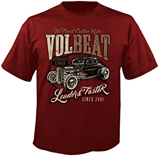 Volbeat Louder and Faster - Red - T-Shirt