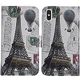 TienJueShi Eiffelturm Flip Book-Style Brief Leder Tasche