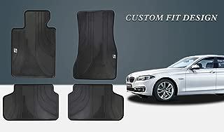 HD-Mart Car Floor Mat for BMW New 5 Series Custom Fit G30 G31 2017-2018-2019, Rubber Black Auto Floor Mats All Weather Heavy Duty & Odorless
