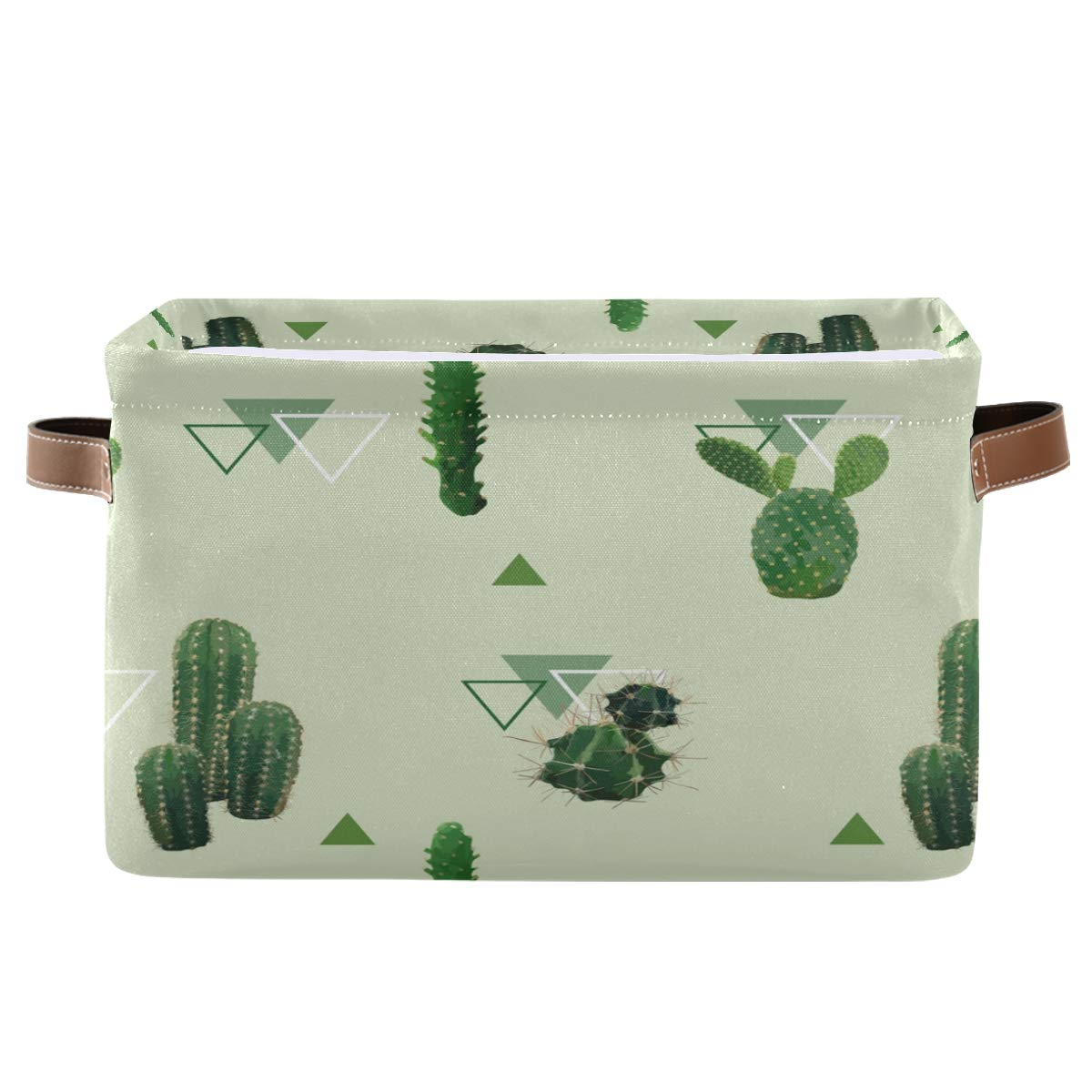 FORMEETY Tropical Cactus Geometric Storage Canvas Kids Bin Women Animer and price revision Ranking TOP9