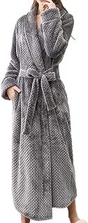 SOMESHINE Womens Dressing Gown Soft Plush Bath Robe,Housecoat Loungewear Bathrobe Coral Fleece Thick Luxury Nightwear