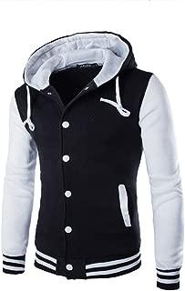 Mens Coat Jacket Stitching Outwear Sweater Winter Slim Hoodie Warm Hooded Pullover Sweatshirt