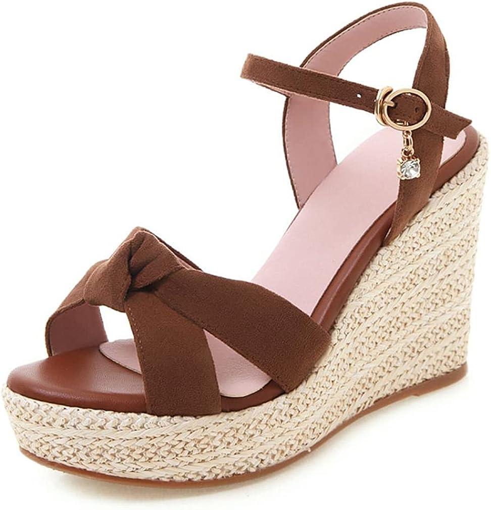 Dreamcia Women Platform Espadrille Lace Wedge Close T Sandals Special price for a limited time Alternative dealer Up