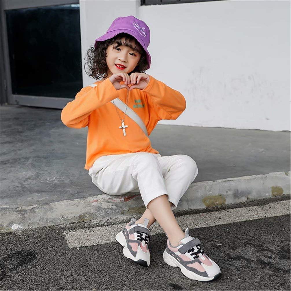 SWZEC Kinder Sportschuhe Jungen Atmungsaktiv Ultraleicht Turnschuhe M/ädchen Freizeit Klettverschluss Laufschuhe Outdoor Gr.26-37