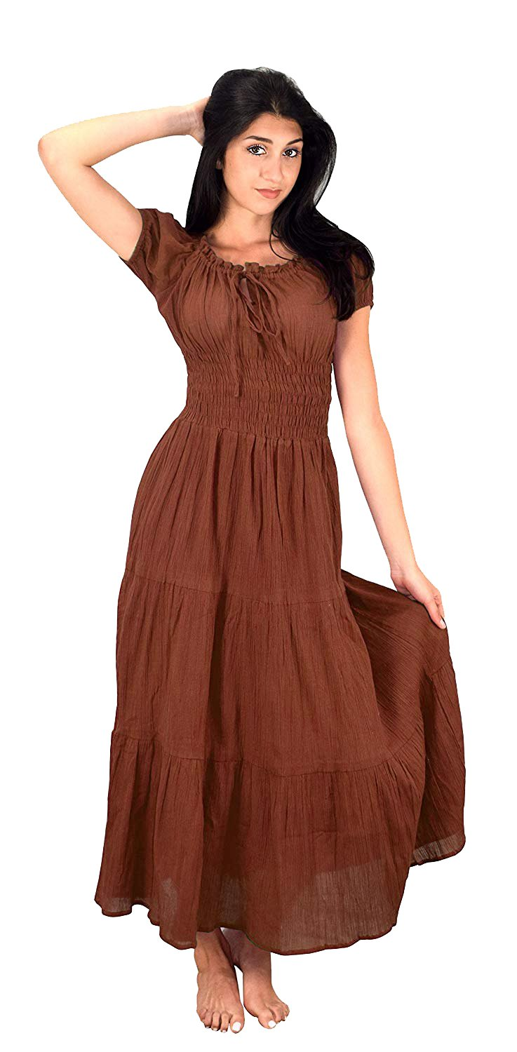 Available at Amazon: Peach Couture Women's Renaissance Vintage Smocked Gypsy Tank Dress