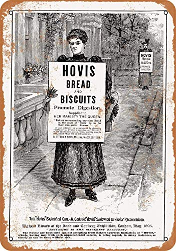 Crysss 1895 Hovis Bread and Biscuits Vintage Look Metal Sign Wall Sign 8x12 Inch