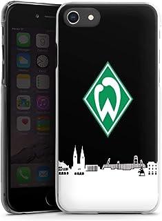 DeinDesign Hard Case kompatibel mit Apple iPhone SE 2020 Schutzhülle transparent Smartphone Backcover Offizielles Lizenzprodukt Skyline SV Werder Bremen