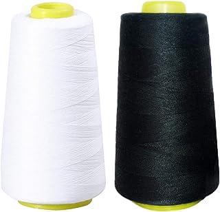 Artibetter 2 piezas de hilo de coser conos de 3000 yardas de alta resistencia poliéster overlock bobinas para coser acolch...
