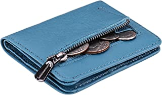 Women's Rfid Blocking Small Compact Bifold Leather Pocket Wallet Ladies Mini Purse with id Window