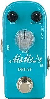 MIMIDI Delay Guitar Effect Pedal Analog Delay Pedal True Bypass Super Mini (306 Delay)