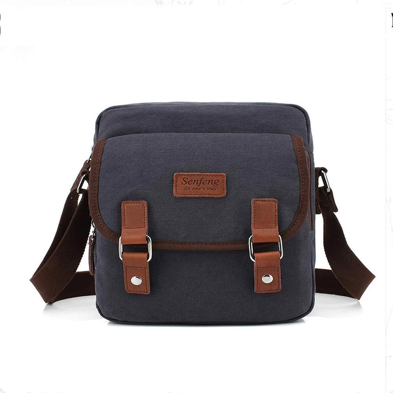 MQQXRecreational Men's Bag Single Shoulder Bag Skew Bag Pure Pure Pure Canvas Bag,Blau B07MYFW433  Schönes Design 3634b9