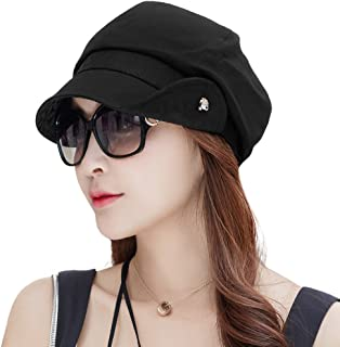 SIGGI 女式 Newsboy Cabbie Painter 帽 - 背面蓬松 56-58 厘米