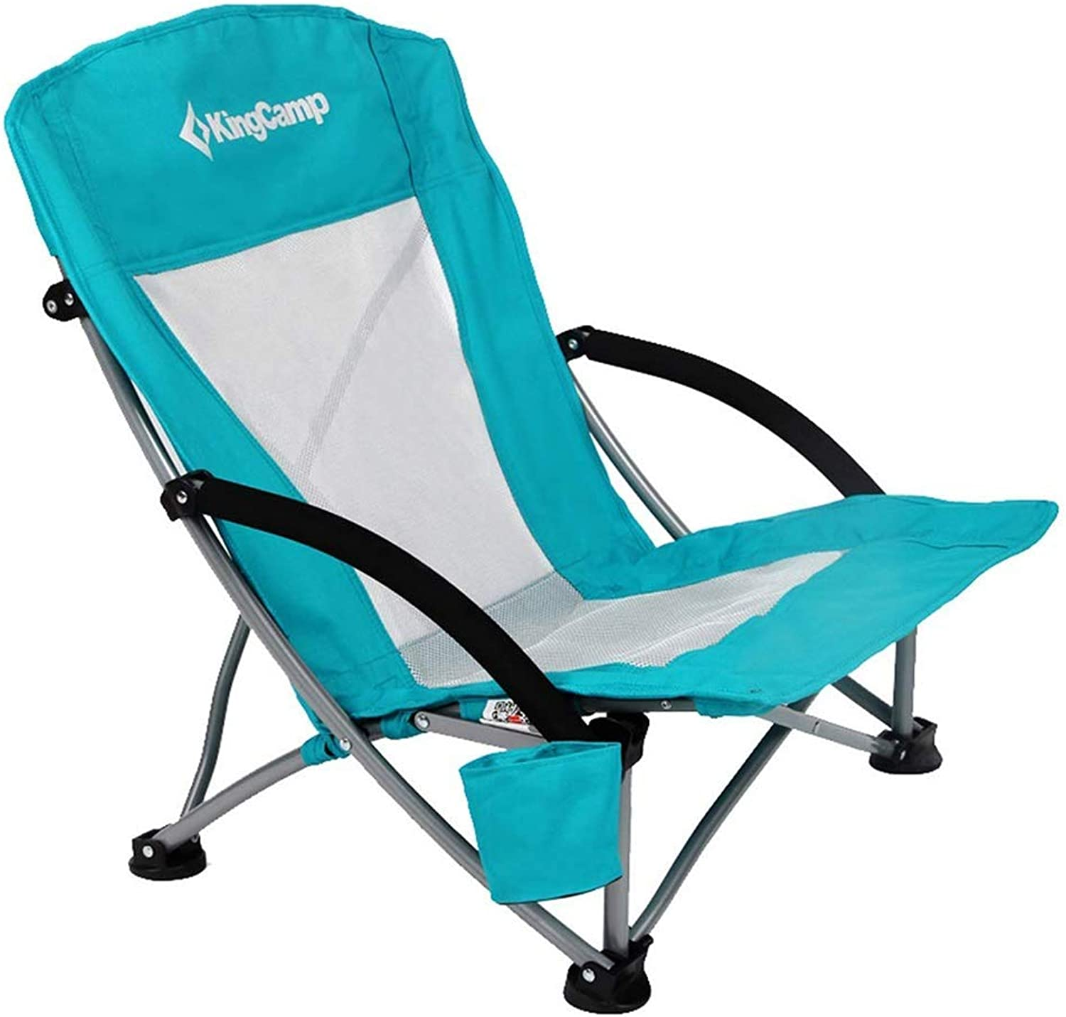 Fishing Chair Portable Folding Chair Lunch Break Chair Backrest Short Beach Chair Camping Chair with Mesh Backrest Load Capacity 130kg (color   Green, Size   58  59  67cm)