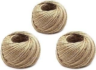 Funmo 12 Rollo Cuerda de C/á/ñamo Yute Twine Hemp Cord String for Gift Packing,Bricolaje,Artes,Manualidades,decoraci/ón y la agrupaci/ón de Embalaje Materials para Aplicaciones de jardiner/ía,25m//12color