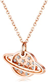 Romantic universe star necklace twinkling stars lady clavicle chain necklace rose gold gentle starlight pendant for girls ...