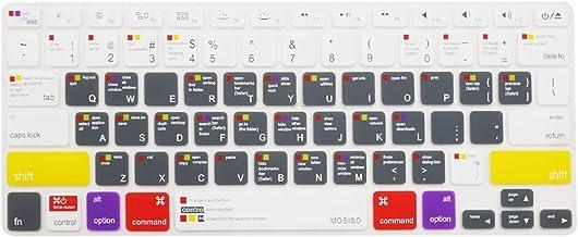 جلد صفحه کلید سیلیکونی MOSISO سازگار با MacBook Pro 13/15 اینچ (با / بدون صفحه نمایش شبکیه چشم ، 2015 یا نسخه قدیمی تر) MacBook Air 13 اینچ (انتشار 2010-2017) ، Mac OS X OSX-M-CC-2 ، سفید