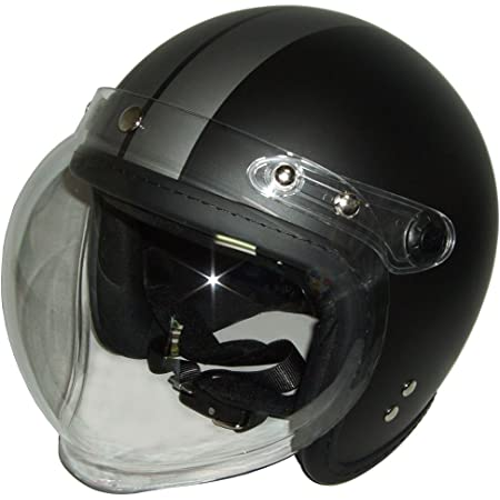 SG規格 半艶 ブラック/チタンライン バブルジェットヘルメット