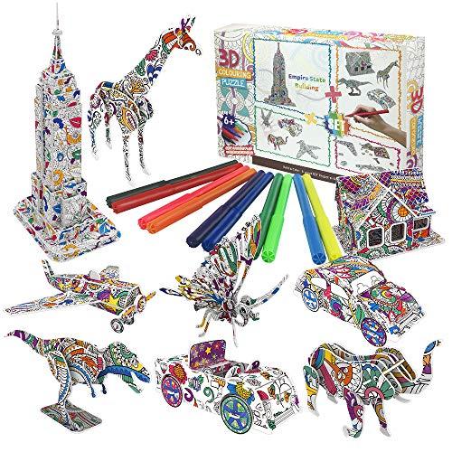Giocattoli Regalo per Bambine di 6 7 8 9 10 Anni, Puzzle 3D da Colorare per Bambine di 6-13 Anni Arti e Mestieri per Bambine di 6 7 8 9 1 0 11 12 Anni Regalo Giocattolo di Compleanno per Bambini