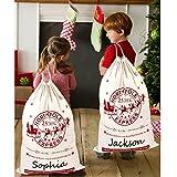 OurWarm 2Pcs Santa Sacks Canvas Bags with Drawstring...