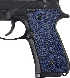 Cool Hand Beretta 92/96 Super Slim Full Size G10 Grips, Screws Included, Sunburst Texture, Brand,Blue/Black B92-J6-8