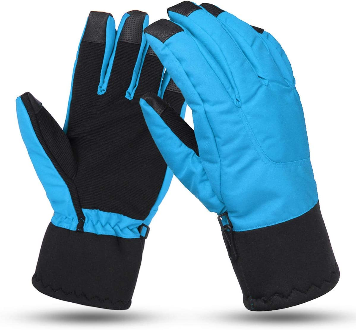Lupovin-Keep Warm Motorcycle Touch Screen Gloves L Size Winter Warm Windproof Raincoat Anti-Slip Thermic Nylon Non-Slip (Color : Royal)