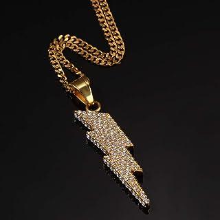 Pendente in Rame Freccia di Cupido Modow Collana Cultura Hip Hop in Acciaio Inossidabile 24in Zircone AAA /& Placcato Oro 14K,doro