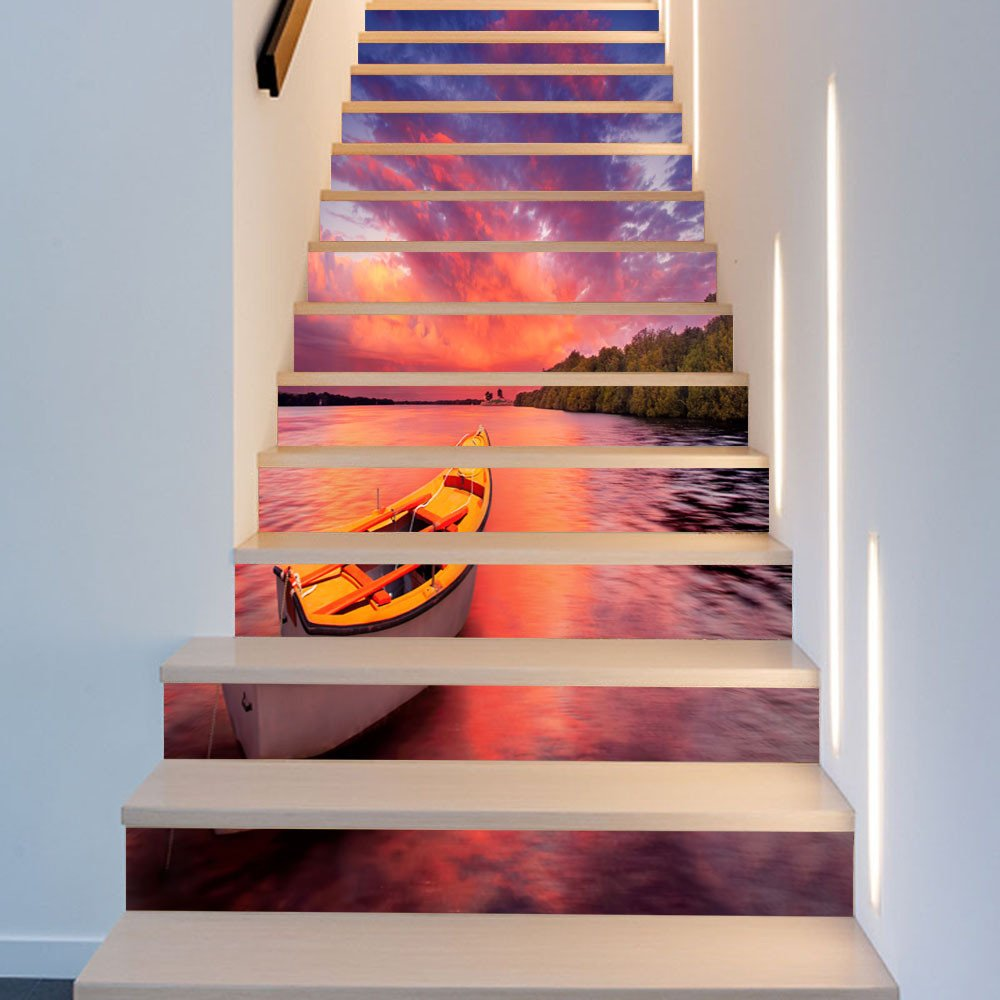 GJ-Renovación del hogar Moda Creativas Pegatinas de Escalera,APegatinas: Amazon.es: Hogar